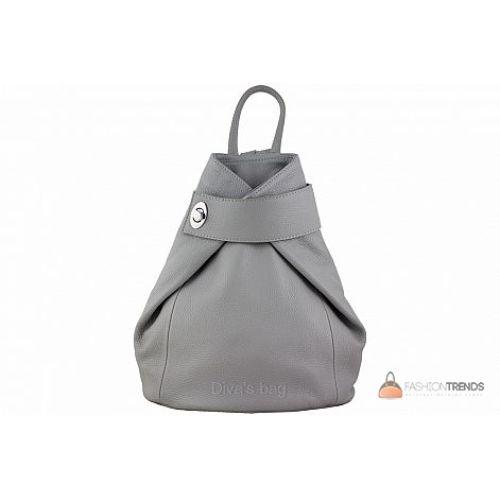 Итальянский кожаный рюкзак DIVAS Stella S6933 серый