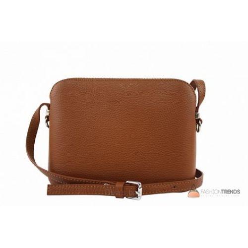 Итальянская кожаная сумка DIVAS Violetta TR952 коньячная