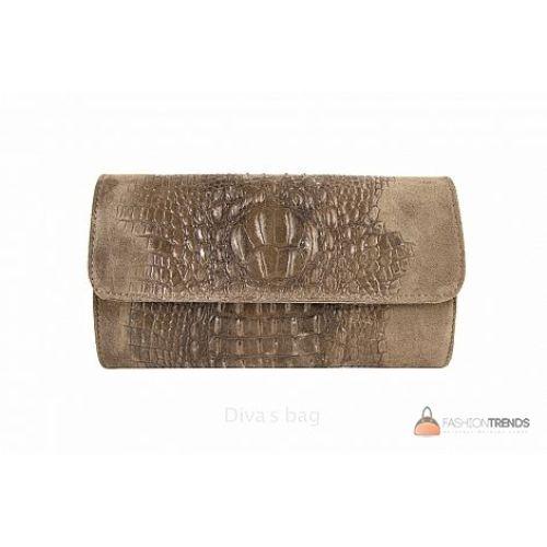 Итальянский кожаный клатч DIVAS Penny P2302 тауп