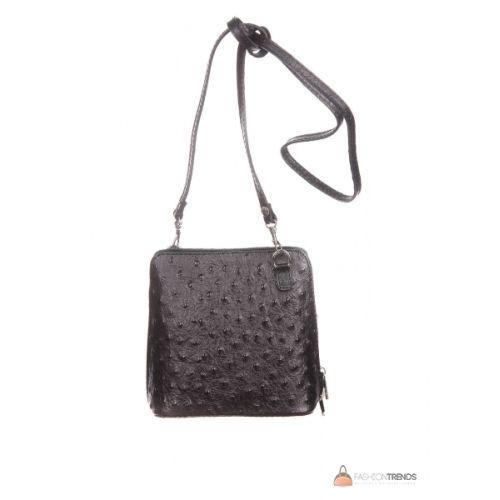 Итальянская кожаная сумка DIVAS GRETA P2279 черная