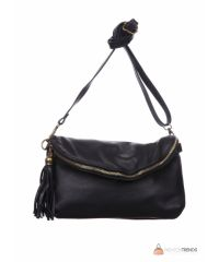 Итальянская кожаная сумка DIVAS SABINE TR928 черная