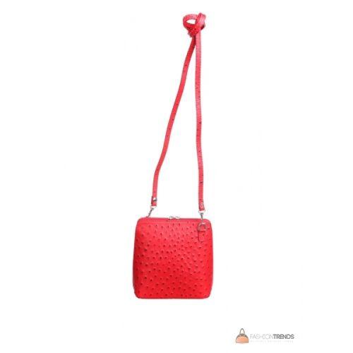 Итальянская кожаная сумка DIVAS GRETA P2279 красная