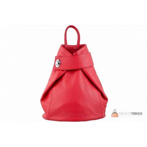 Итальянский кожаный рюкзак DIVAS Stella S6933 красный
