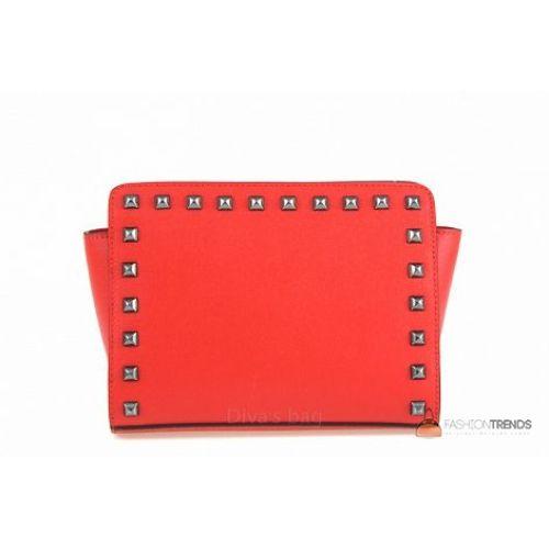 Итальянская кожаная сумка DIVAS Josiane TR101 красная