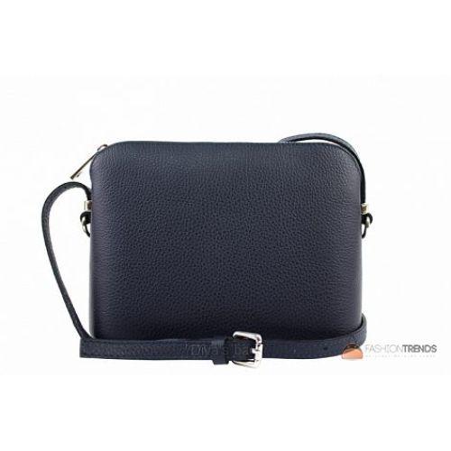Итальянская кожаная сумка DIVAS Violetta TR952 темно-синяя