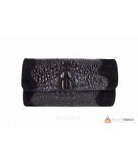 Итальянский кожаный клатч DIVAS Penny P2302 черный