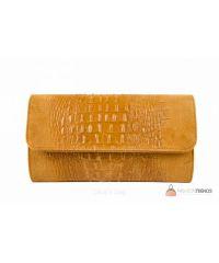 Итальянский кожаный клатч DIVAS Penny P2302 оранжевый