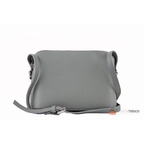 Итальянская кожаная сумка DIVAS Violetta TR952 серая