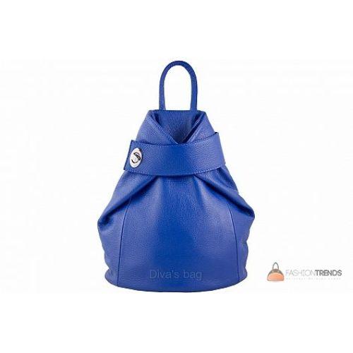 Итальянский кожаный рюкзак DIVAS Stella S6933 синий