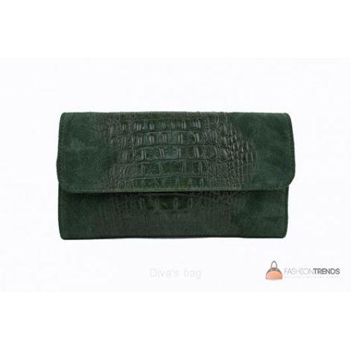 Итальянский кожаный клатч DIVAS Penny P2302 зеленый