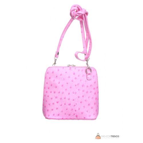 Итальянская кожаная сумка DIVAS GRETA P2279 розовая