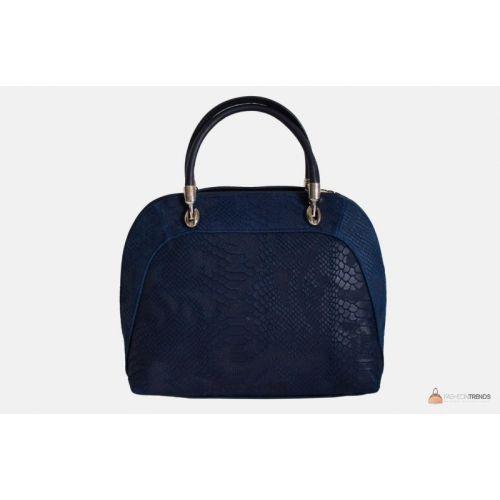 Итальянская кожаная сумка DIVAS CARLA.P M8816 темно-синяя