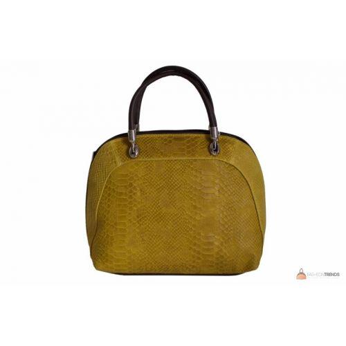 Итальянская кожаная сумка DIVAS CARLA.P M8816 желтая