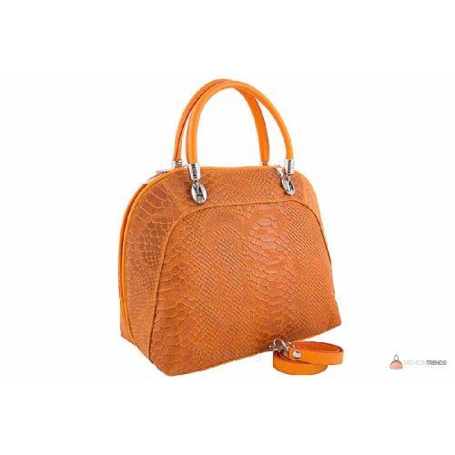 Итальянская кожаная сумка DIVAS CARLA.P M8816 оранжевая