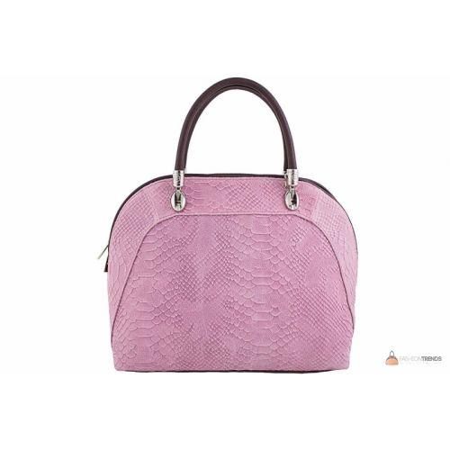 Итальянская кожаная сумка DIVAS CARLA.P M8816 розовая