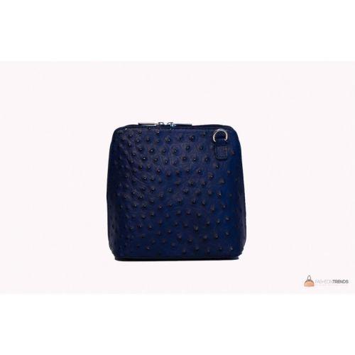Итальянская кожаная сумка DIVAS GRETA P2279 темно-синяя