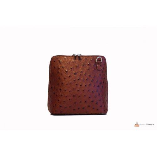 Итальянская кожаная сумка DIVAS GRETA P2279 коричневая