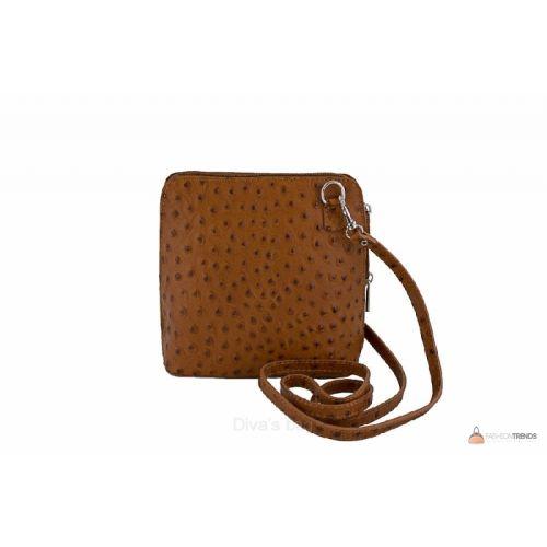 Итальянская кожаная сумка DIVAS GRETA P2279 коньячная