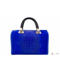 Итальянская кожаная сумка DIVAS MARIANNE M8836 синяя