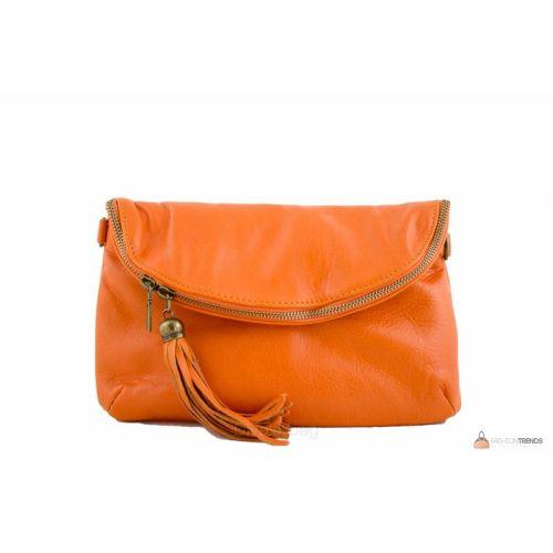 Итальянская кожаная сумка DIVAS SABINE TR928 оранжевая