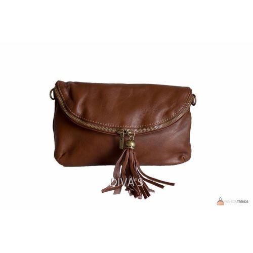 Итальянская кожаная сумка DIVAS SABINE TR928 коричневая
