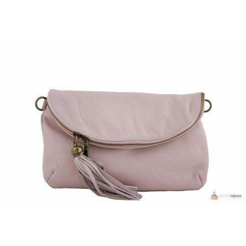 Итальянская кожаная сумка DIVAS SABINE TR928 розовая