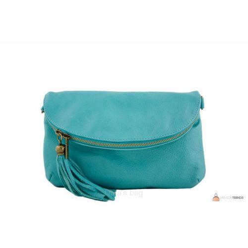 Итальянская кожаная сумка DIVAS SABINE TR928 бирюзовая