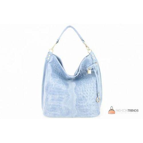 Итальянская кожаная сумка DIVAS Luisa S6983 голубая