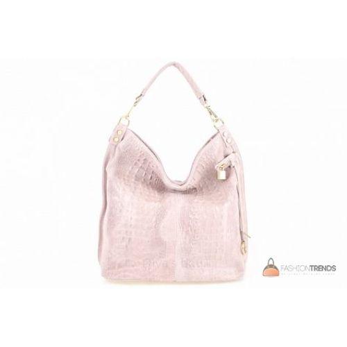 Итальянская кожаная сумка DIVAS Luisa S6983 розовая