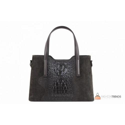 Итальянская кожаная сумка DIVAS Maurine M8955 темно-серая
