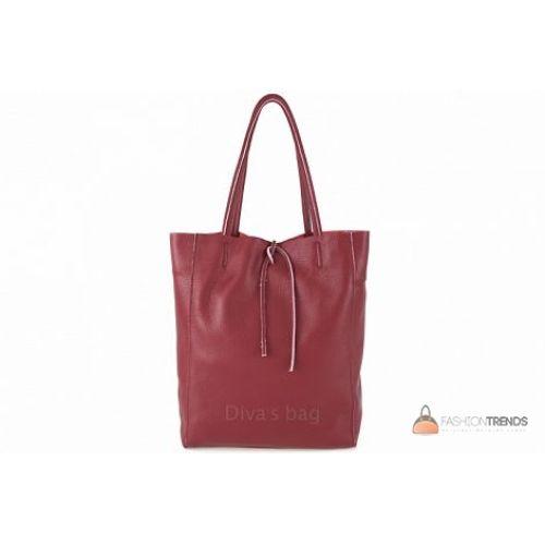 Итальянская кожаная сумка DIVAS Solange S7080 красная