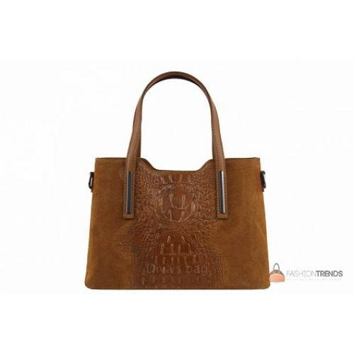 Итальянская кожаная сумка DIVAS Maurine M8955 коньячная