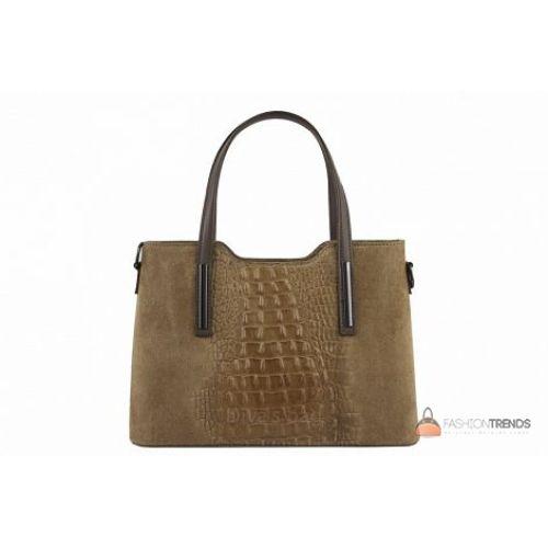Итальянская кожаная сумка DIVAS Maurine M8955 тауп
