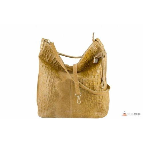 Итальянская кожаная сумка DIVAS Luisa S6983 желтая