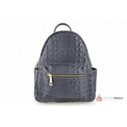 Итальянский кожаный рюкзак DIVAS Zavia S7088 темно-серый