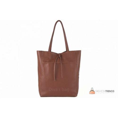Итальянская кожаная сумка DIVAS Solange S7080 коричневая