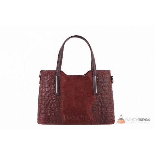 Итальянская кожаная сумка DIVAS Maurine M8955 бордовый