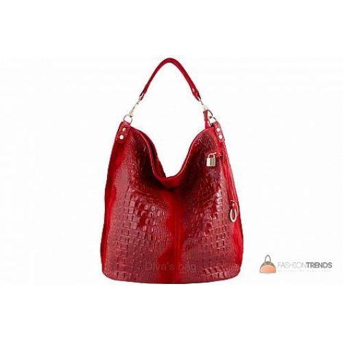 Итальянская кожаная сумка DIVAS Luisa S6983 красная