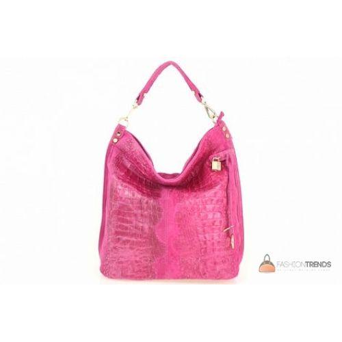 Итальянская кожаная сумка DIVAS Luisa S6983 фуксия