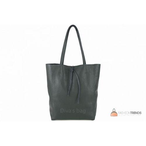 Итальянская кожаная сумка DIVAS Solange S7080 зеленая