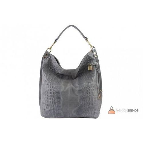 Итальянская кожаная сумка DIVAS Luisa S6983 серая
