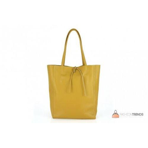 Итальянская кожаная сумка DIVAS Solange S7080 желтая
