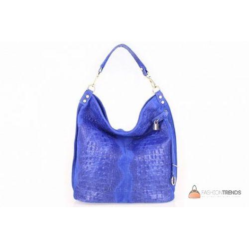 Итальянская кожаная сумка DIVAS Luisa S6983 синяя