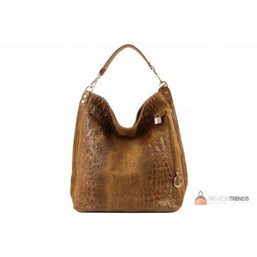 Итальянская кожаная сумка DIVAS Luisa S6983 коньячная