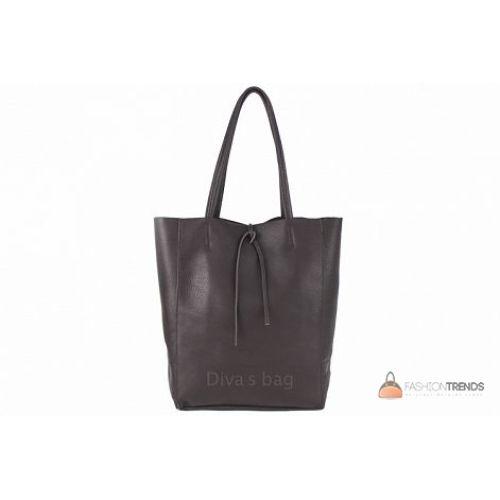 Итальянская кожаная сумка DIVAS Solange S7080 темно-коричневая