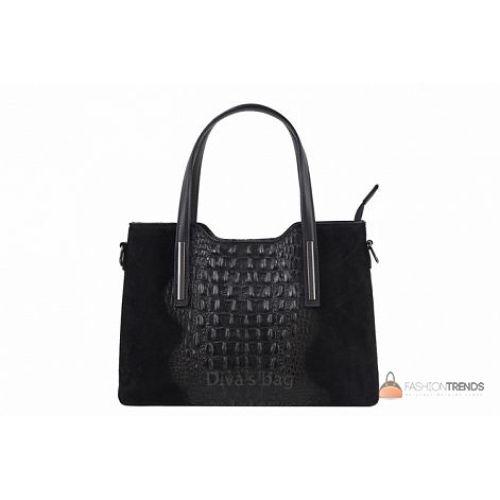 Итальянская кожаная сумка DIVAS Maurine M8955 черная