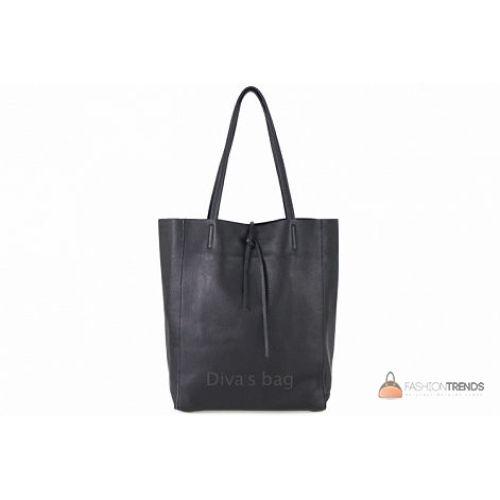 Итальянская кожаная сумка DIVAS Solange S7080 черная