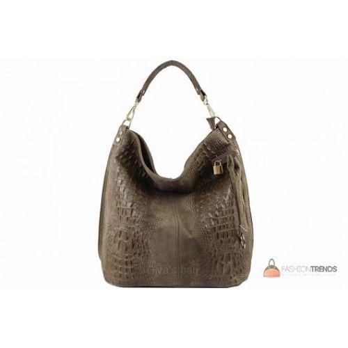 Итальянская кожаная сумка DIVAS Luisa S6983 тауп