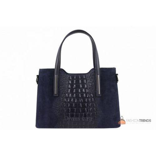 Итальянская кожаная сумка DIVAS Maurine M8955 синий