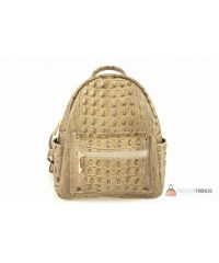 Итальянский кожаный рюкзак DIVAS Zavia S7088 тауп
